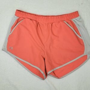 Under Armour fly by loose running shorts, sz M.